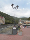Rosa Khutor Alpine Resort im Kaukasus Lizenzfreies Stockfoto