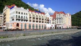 Rosa Khutor Alpine Resort in Krasnaya Polyana Soci Immagini Stock