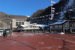 Rosa Khutor alpine resort. Royalty Free Stock Photography