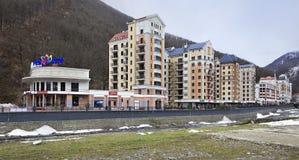 Rosa Khutor Alpine Resort in Sochi Stock Photo