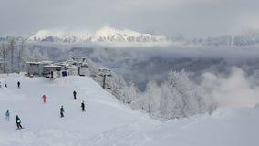 Rosa Khutor Alpine Resort. Time Lapse stock video