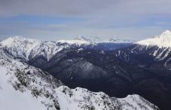 Rosa Khutor Alpine Ski Resort Royalty-vrije Stock Foto's