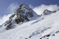 Rosa Khutor Alpine Ski Resort Stock Afbeeldingen