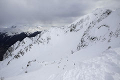 Rosa Khutor Alpine Ski Resort Royalty-vrije Stock Foto