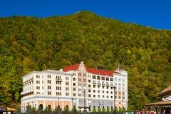 Rosa Khutor Alpine ski resort, Krasnaya Polyana, Sochi Royalty Free Stock Photos