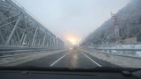 Rosa Khutor. Highway Krasnaya Polyana - Adler - Sochi Stock Photography