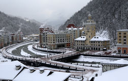 Rosa Khutor. Hotel complex on the Rosa Khutor Stock Images