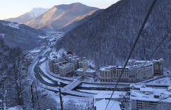 Rosa Khutor. Hotel complex on the Rosa Khutor Royalty Free Stock Image