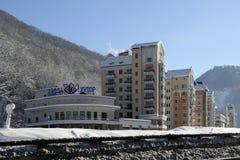 Rosa Khutor. Hotels in Rosa Khutor near Krasnaya Polyana Stock Photos