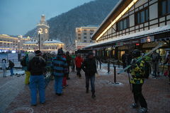 Rosa Khutor. The opening of the ski season at the Rosa Khutor Stock Photography