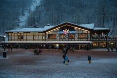 Rosa Khutor. The opening of the ski season at the Rosa Khutor Stock Image