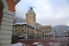 Rosa Khutor. The opening of the ski season at the Rosa Khutor Royalty Free Stock Images