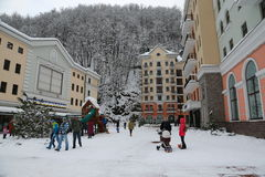 Rosa Khutor. The opening of the ski season at the Rosa Khutor Royalty Free Stock Image