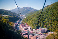 Rosa Khutor Ski Resort Royalty Free Stock Photography