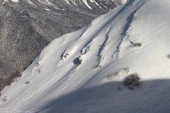 Rosa Khutor. The ski slopes of the Aibga Ridge Royalty Free Stock Image