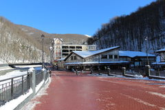Rosa Khutor ski village in the winter. Stock Photography