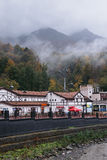 Rosa Khutor, Sochi, Russia, October 24, 2015: Autumn in the mountains Royalty Free Stock Images