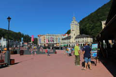 Rosa Khutor in summer, Sochi, Russia Royalty Free Stock Images
