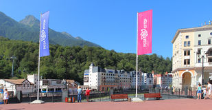 Rosa Khutor in summer, Sochi, Russia Stock Photo