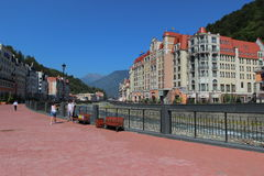 Rosa Khutor in summer, Sochi, Russia Royalty Free Stock Photos