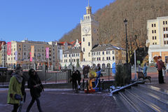 Rosa Khutor town hall Royalty Free Stock Photos