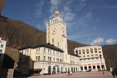 Rosa Khutor town hall, Sochi Stock Photos