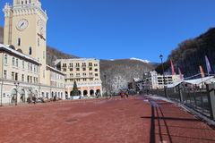 Rosa Khutor town hall. Royalty Free Stock Image
