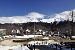 Rosa Khutor village building, Sochi. Russia Royalty Free Stock Images