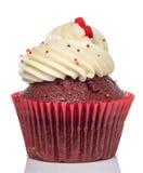 Rosa kleiner Kuchen auf weißem Hintergrund Stockbild