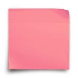 Rosa klistermärkepappersanmärkning Royaltyfria Bilder