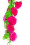 Rosa konstgjorda blommor Royaltyfria Bilder