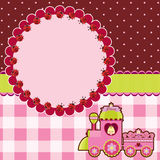 Rosa kort för Princess Arkivfoto