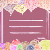 Rosa kort för vänner för ferie arkivfoton