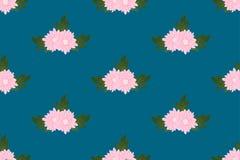 Rosa krysantemum på bakgrund för indigoblå blått också vektor för coreldrawillustration royaltyfri illustrationer