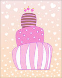 Rosa Kuchen lizenzfreie abbildung