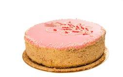 Rosa Kuchen lokalisiert Stockbilder