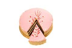 Rosa Kuchen lokalisiert Stockfotos