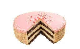 Rosa Kuchen lokalisiert Stockbild