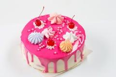 Rosa Kuchen verziert Stockbild