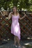 rosa kvinna Fotografering för Bildbyråer