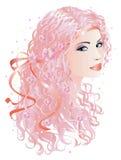 rosa kvinna för hår Royaltyfri Bild