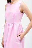 rosa kvinnabarn för klänning Arkivfoton