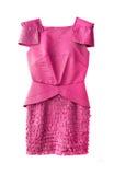 rosa kvinnor för klänning Arkivfoto