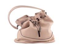 Rosa kvinnors portfölj för påse för läderskuldra Royaltyfri Fotografi