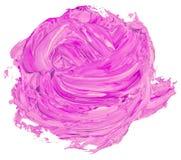 Rosa läppstift skimrar smetad blick som en rosa form stock illustrationer