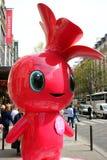 Rosa la mascotte Fotografia Stock