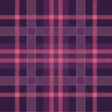 Rosa, lenhador roxo - pano da manta de tartã, textura sem emenda Teste padrão escocês quadriculado ilustração royalty free