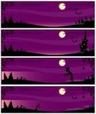 Rosa linjer på ett Halloween tema Fotografering för Bildbyråer