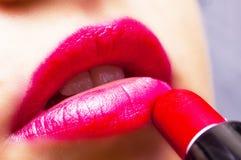 Rosa Lippen Stockfotos