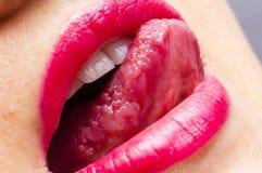 Rosa Lippen Lizenzfreie Stockbilder